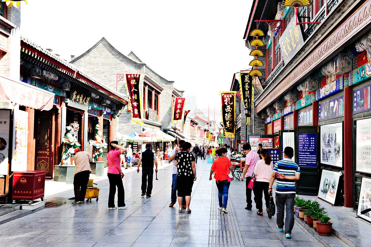 There is fantastic shopping in Tianjin