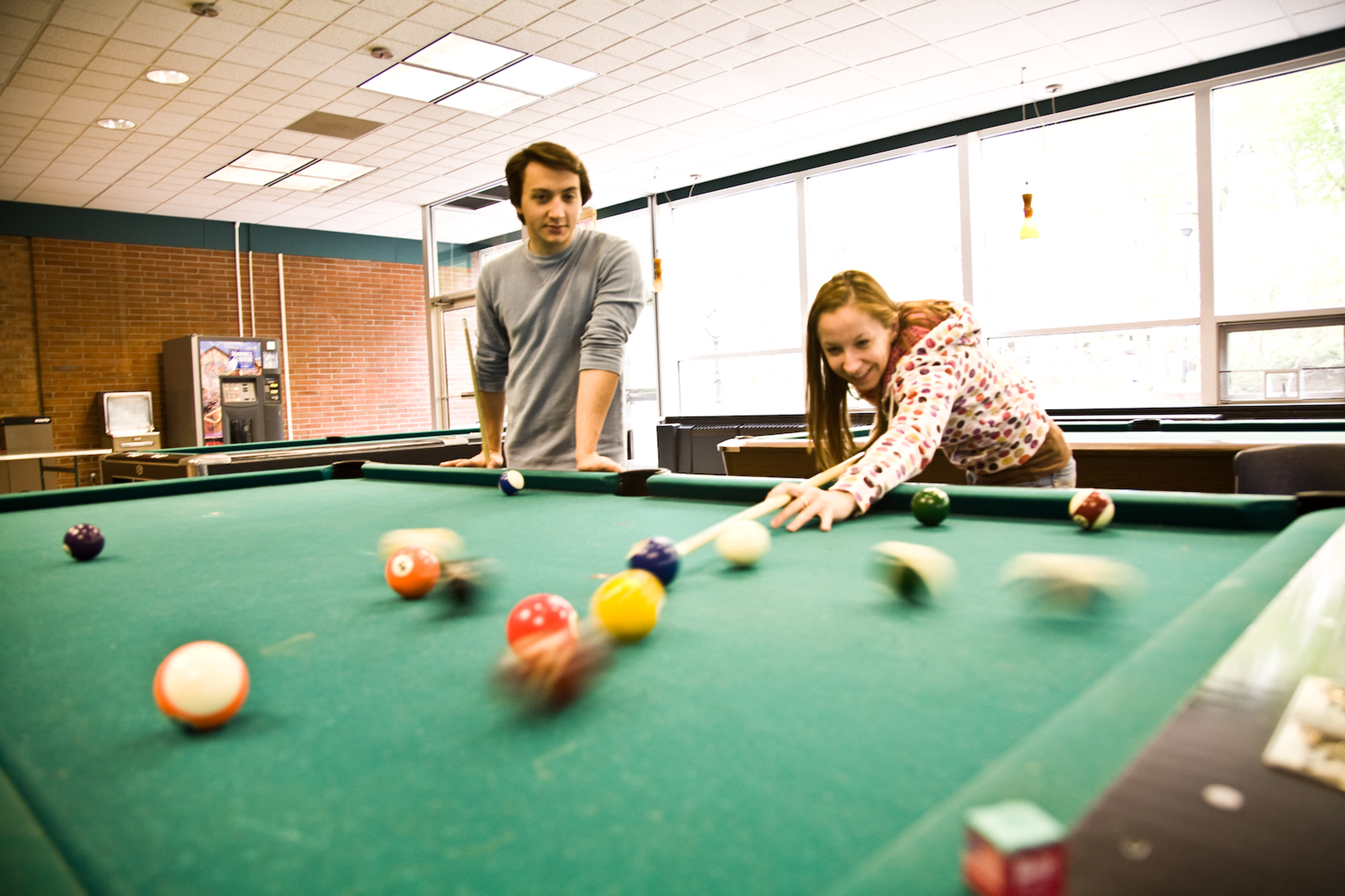 Shoot some pool at the Ehinger Center