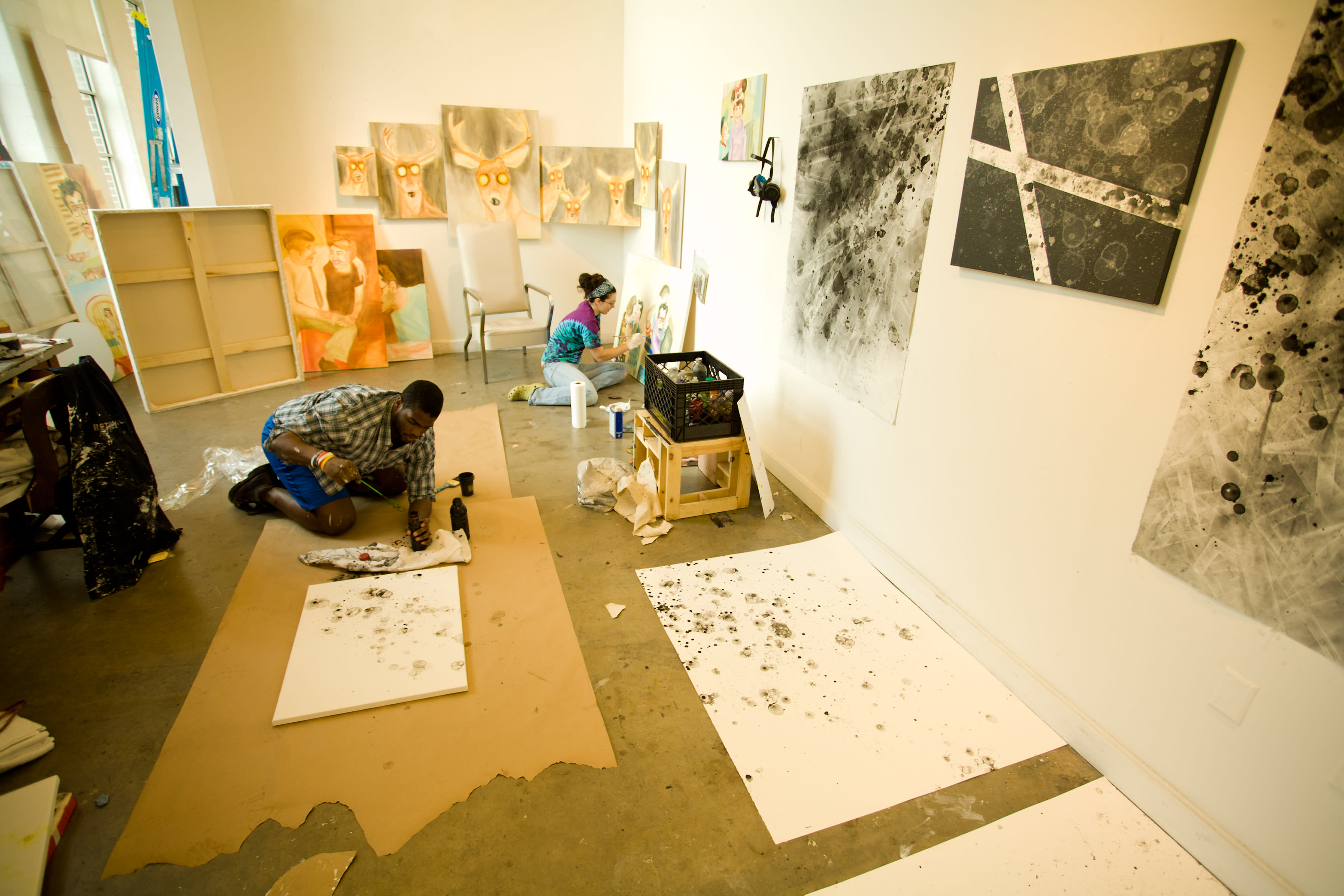 Senior art students are eligible for studio space on campus