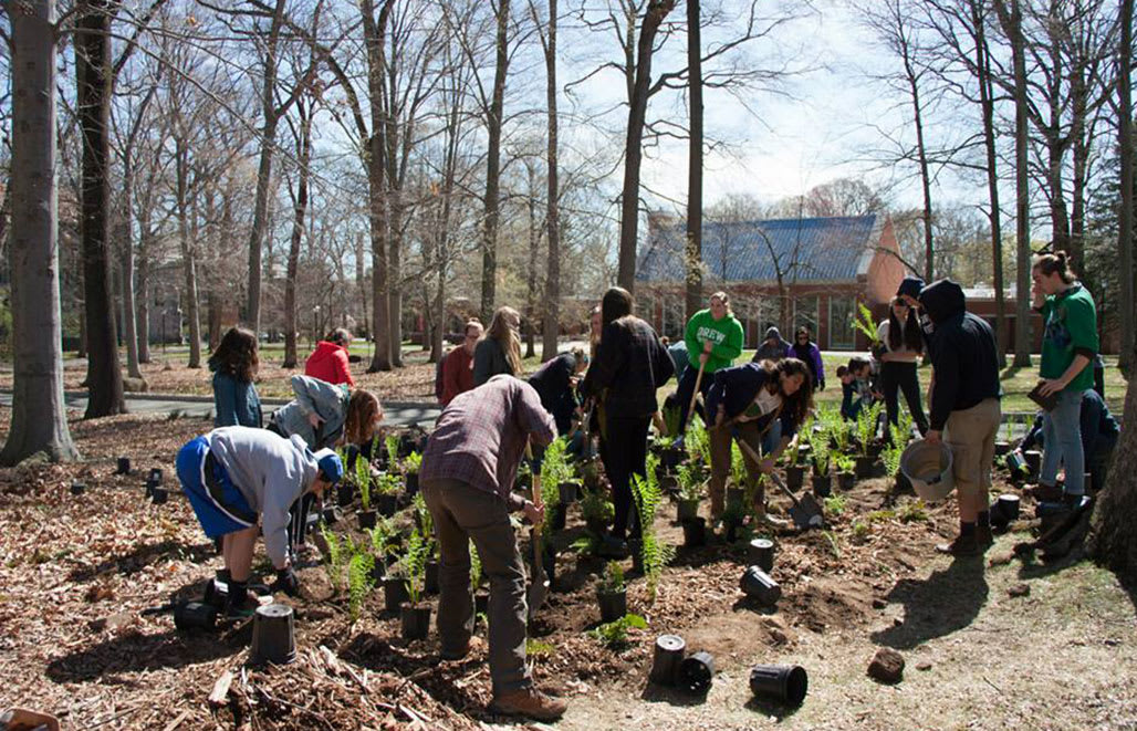Students work together to keep campus beautiful
