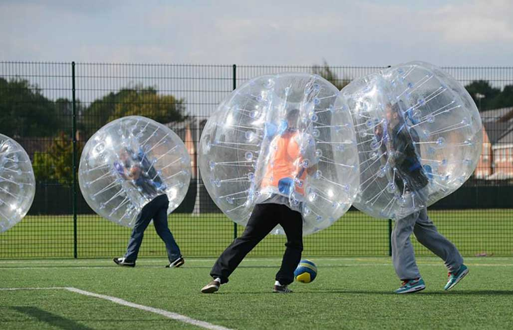 Play sports like Zorb ball