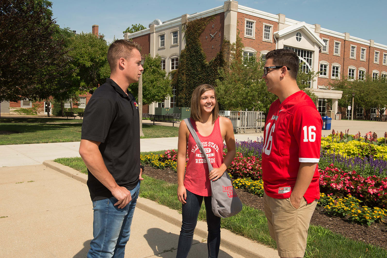 Students at Illinois State University