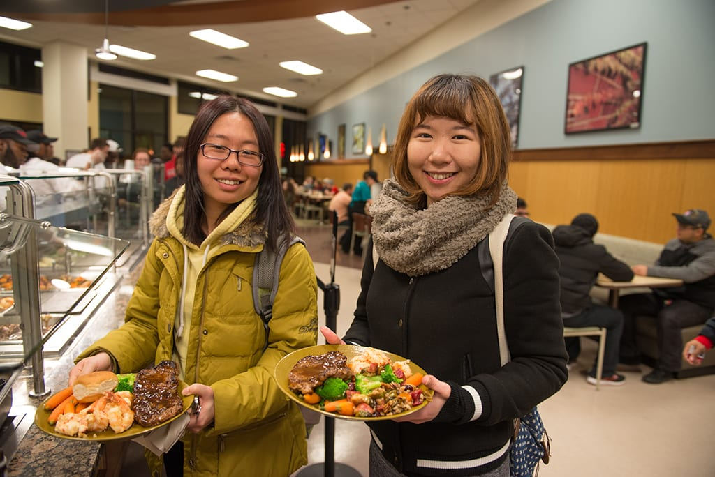 Enjoy fresh and delicious meals at any of our dining halls