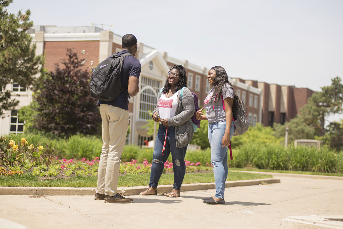 ISU group of students on campus