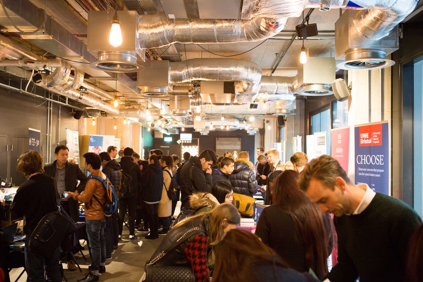 Over 60 universities attend the placement fair