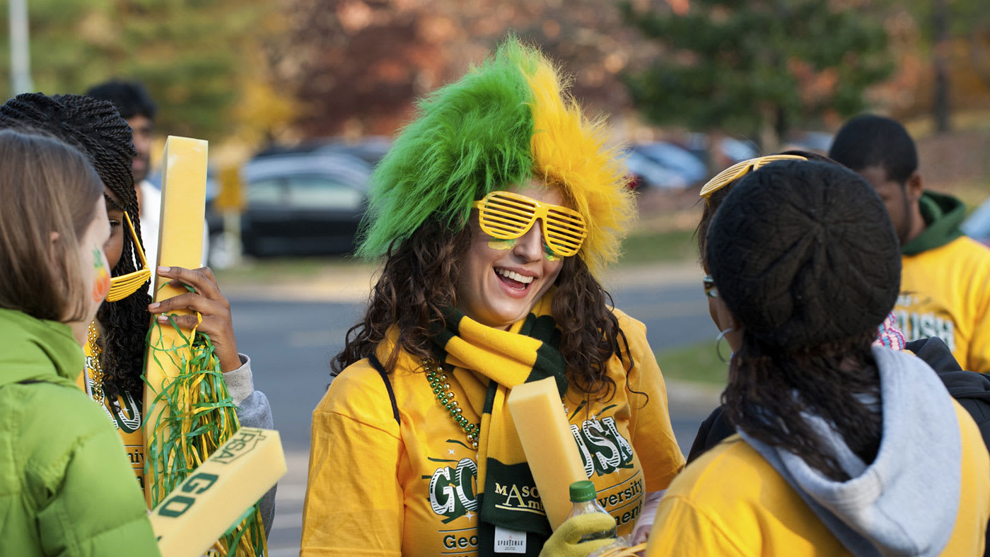 Show George Mason school spirit