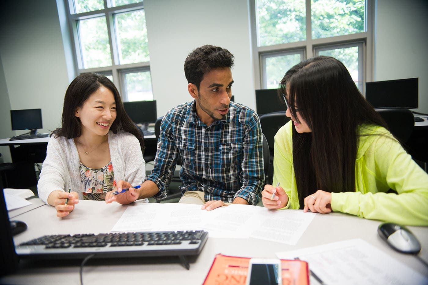 Students study at Mason