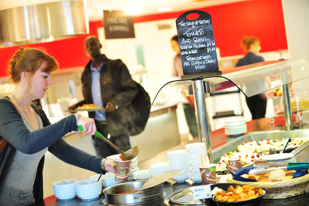 There are 12 unique food and drink outlets spread across the UEA campus