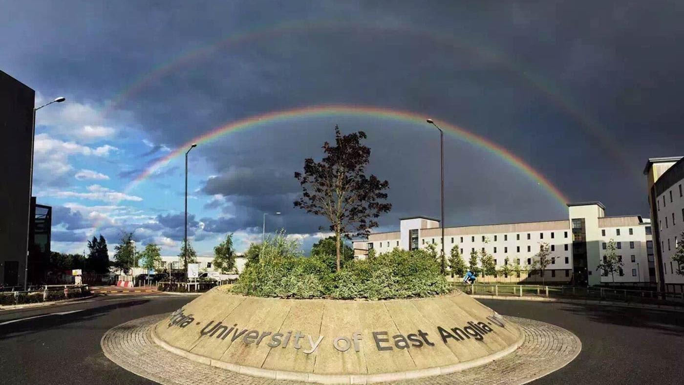INTO UEA campus rainbow