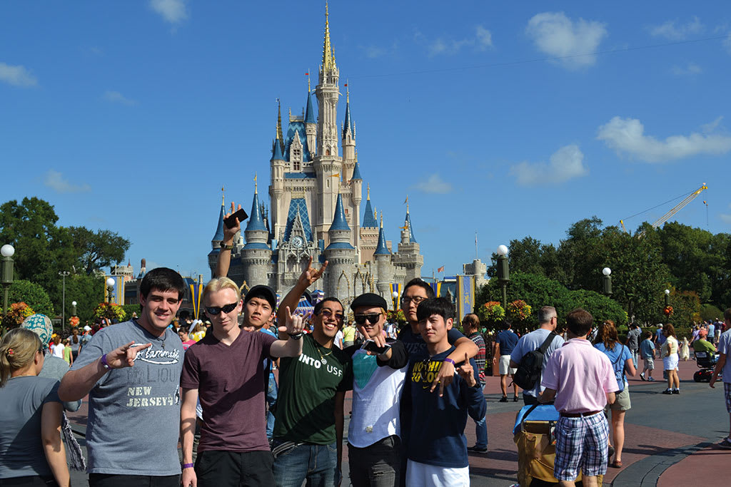 Students at Disneyworld