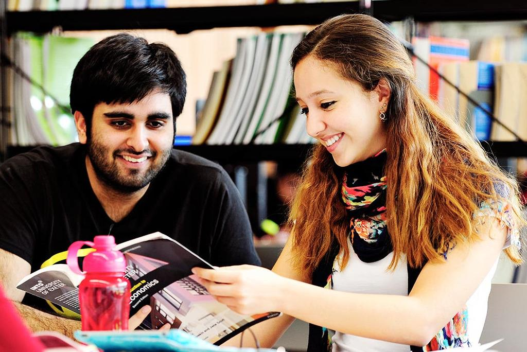 Students studying at INTO Exeter