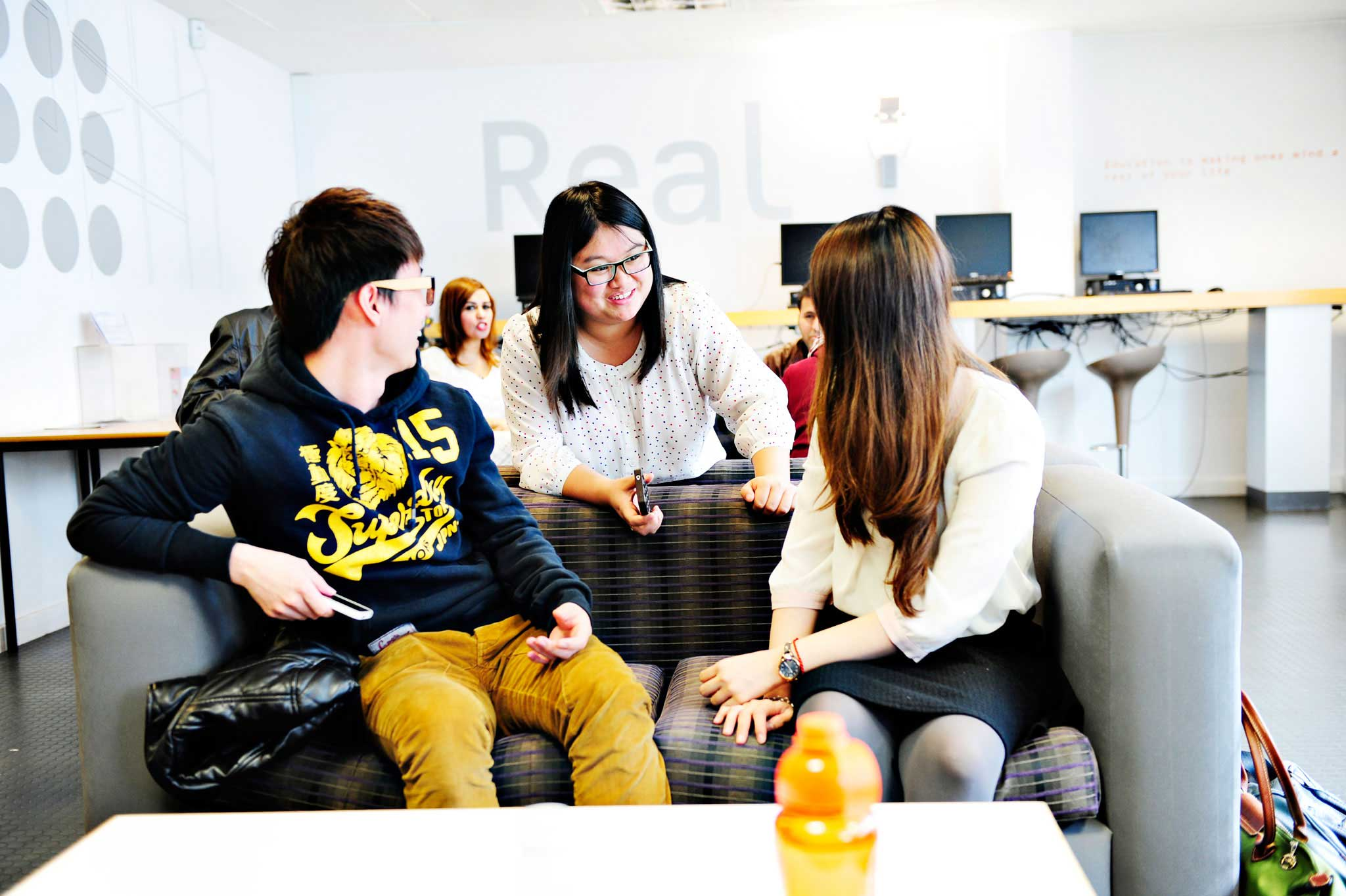 Socialise with friends in the Real Study Cafe