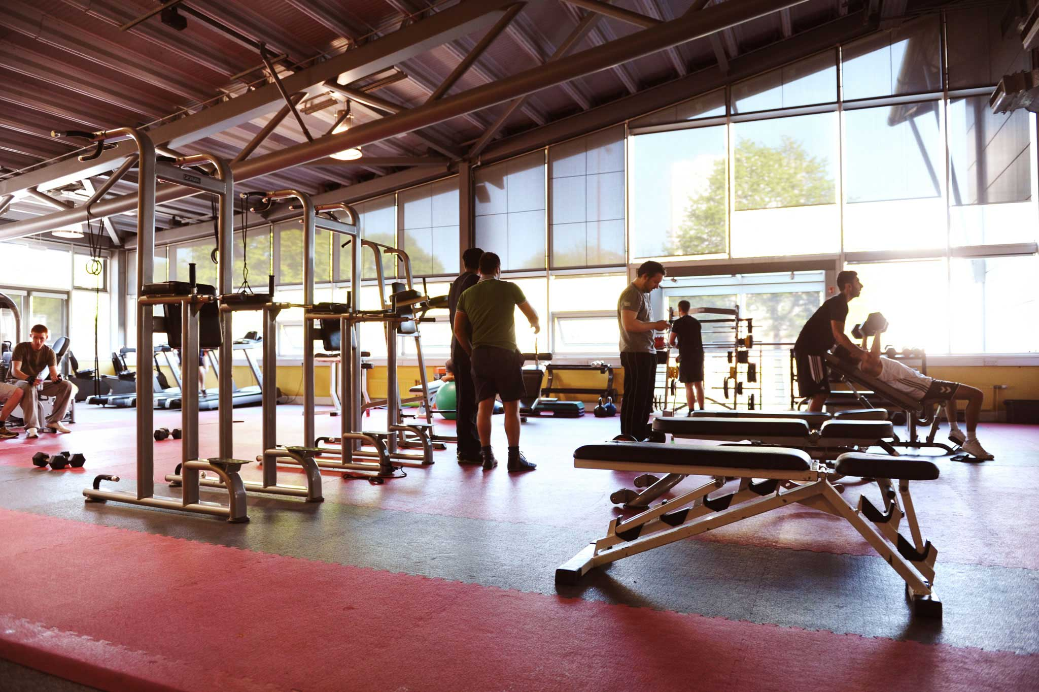 Gym facilities available for all students