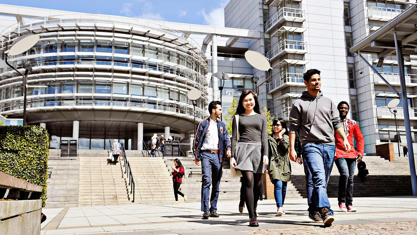 INTO GCU students walking through campus