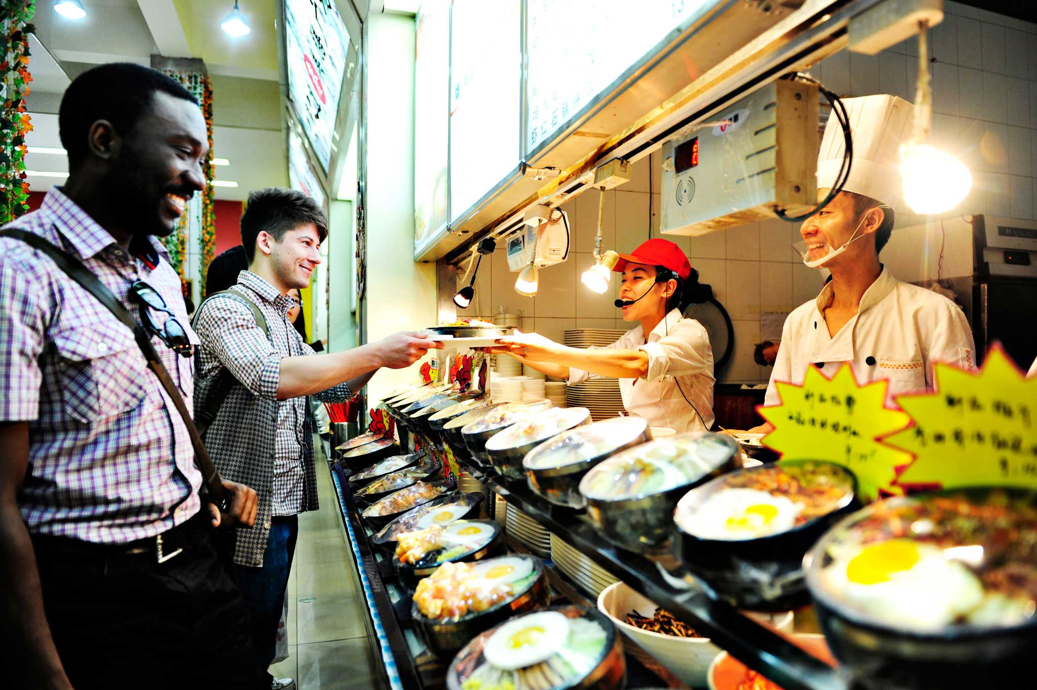 Campus canteens offer lots of choice
