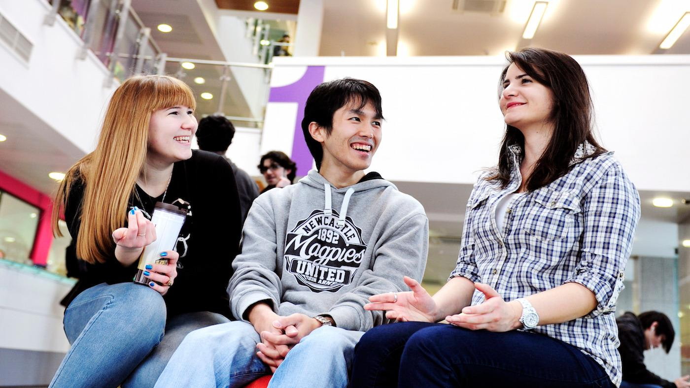 Students at INTO Newcastle INTO Centre