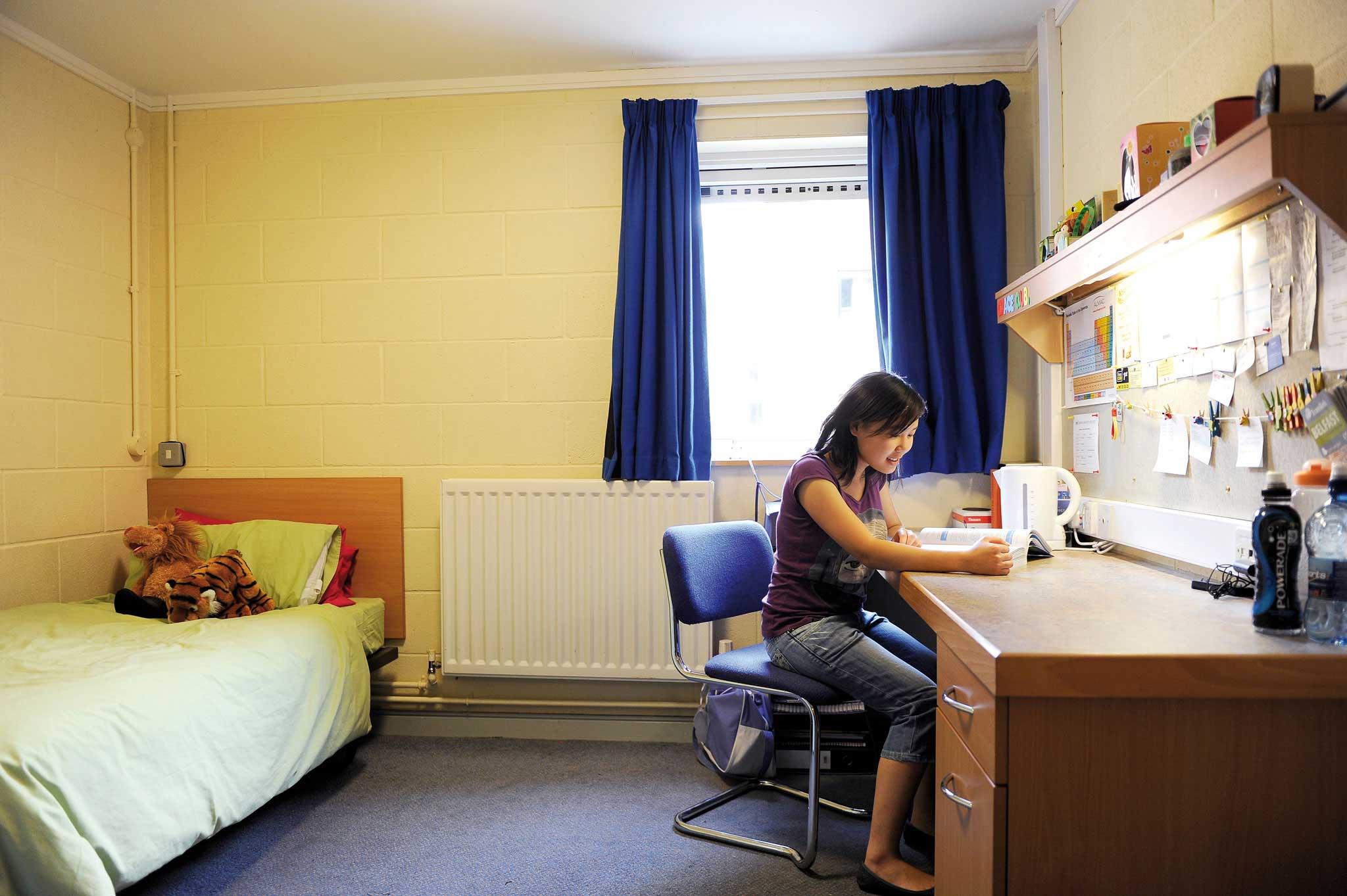 在自己的私人空间学习或放松