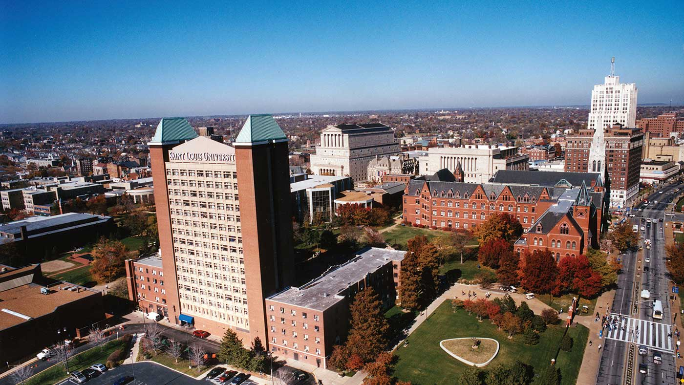 Aerial of SLU campus