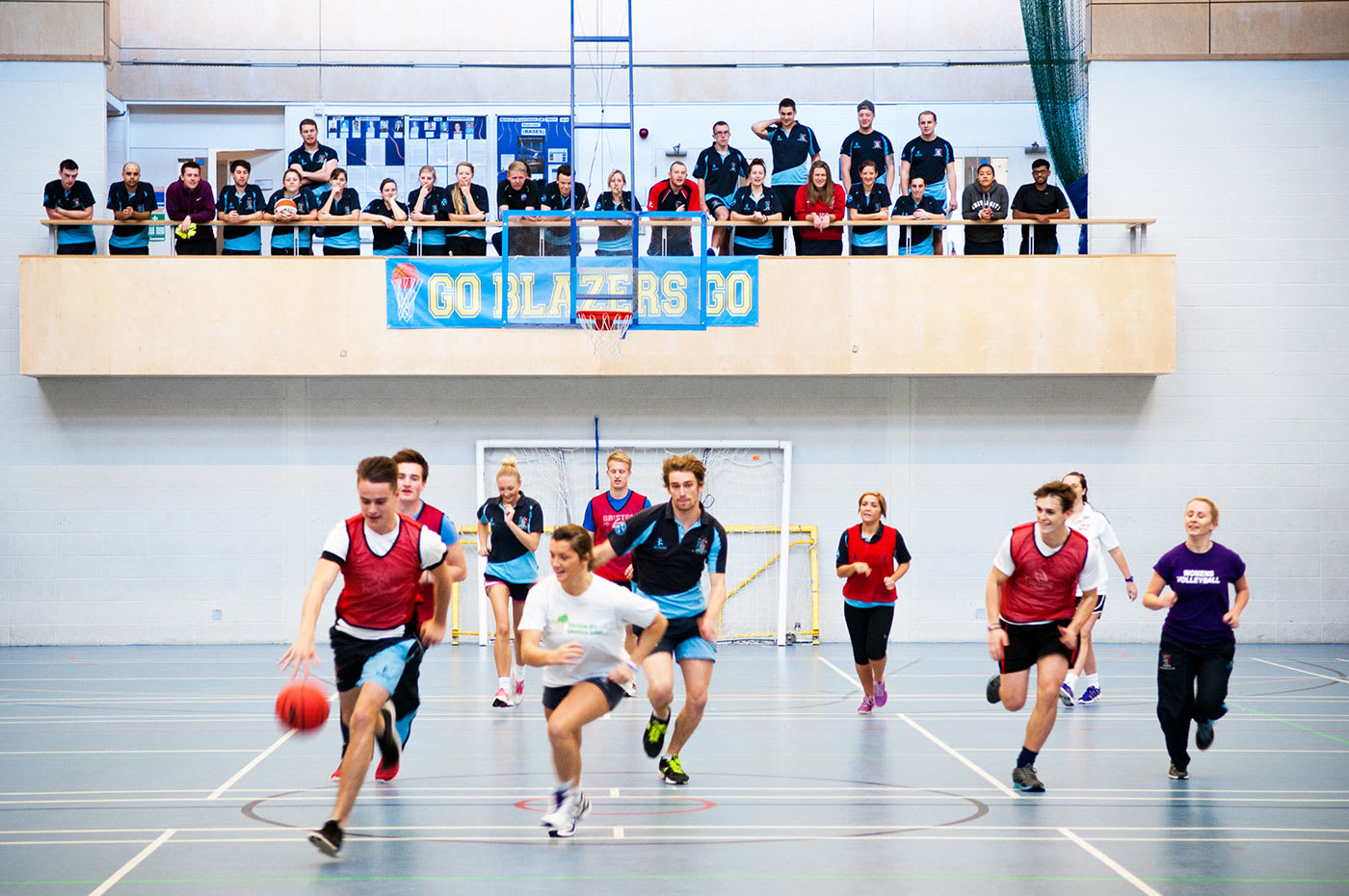 Baskteball game at University of Gloucestershire