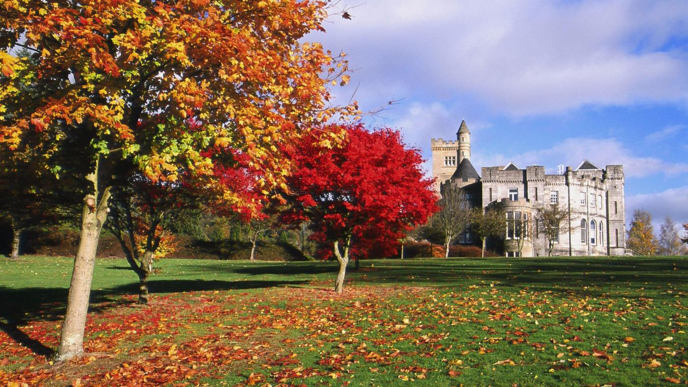 The University of Stirling campus in autumn