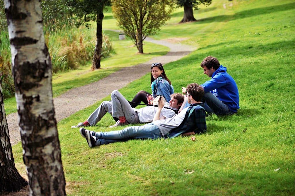 绿荫浓郁,处处是你学余放松的理想之地