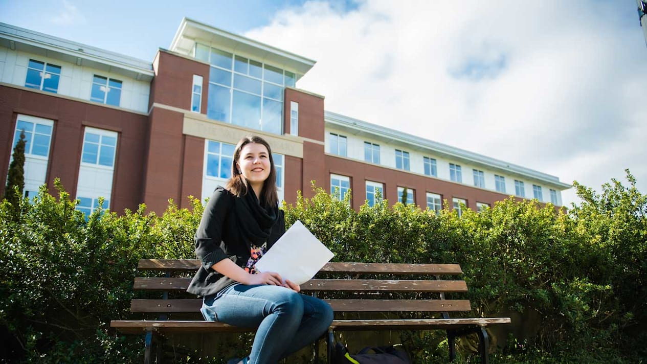 Student studying in the US